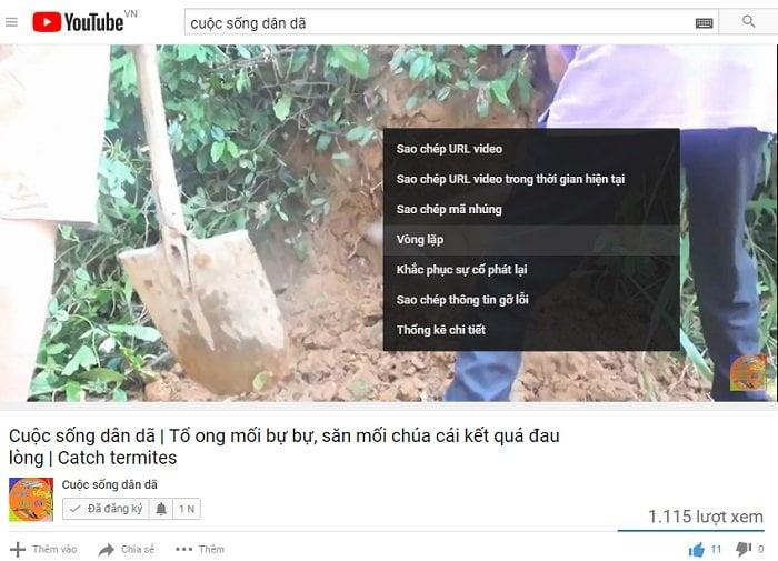 Cách bật tính năng lặp lại Video trên Youtube đơn giản