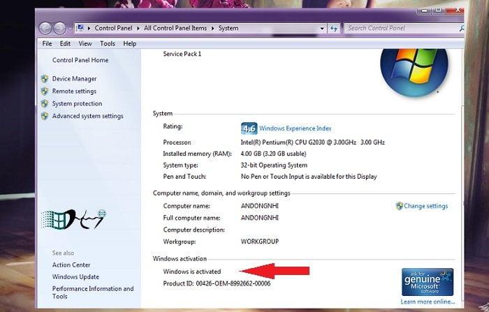 Các cách Active Windows 7 miễn phí đơn giản mà hiệu quả 8