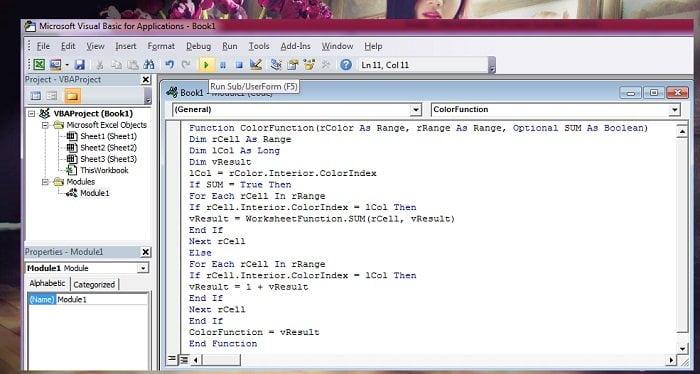 Cách tính tổng hoặc đếm các ô được tô màu trong Excel đơn giản 1