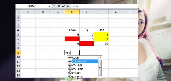 Cách tính tổng hoặc đếm các ô được tô màu trong Excel đơn giản 2