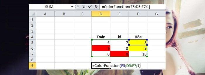 Cách tính tổng hoặc đếm các ô được tô màu trong Excel đơn giản 3
