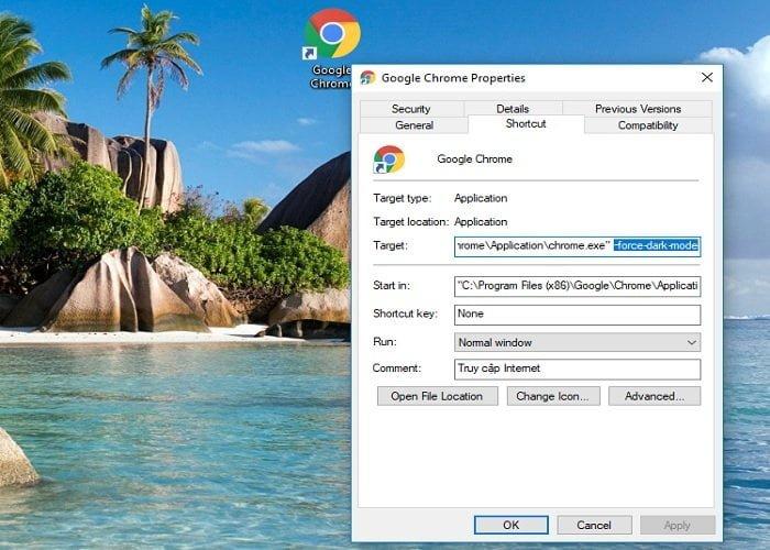 Cách bật tắt chế độ tối trong Google Chrome Windows 10 5
