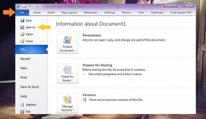 Cách lưu một văn bản trong Microsoft Word mới nhất 4