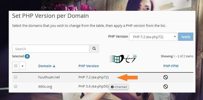 Cách sử dụng phiên bản PHP trên nhiều Website cùng Hosting 2