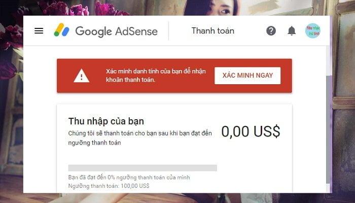 Cách xác minh lại danh tính Google Adsense khi yêu cầu? 2