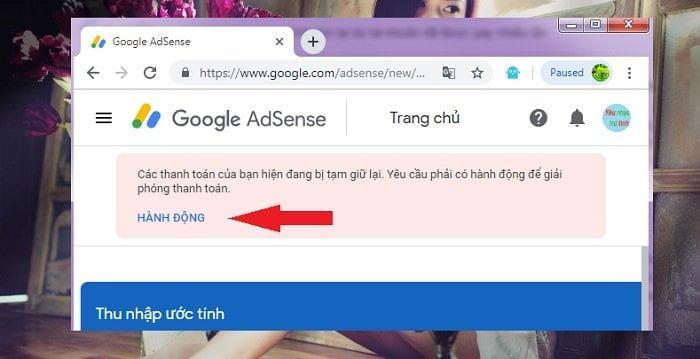 xác minh lại danh tính Google Adsense