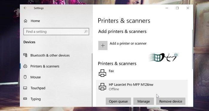 Khắc phục máy in Offline trong Windows 10 đơn giản nhất 5