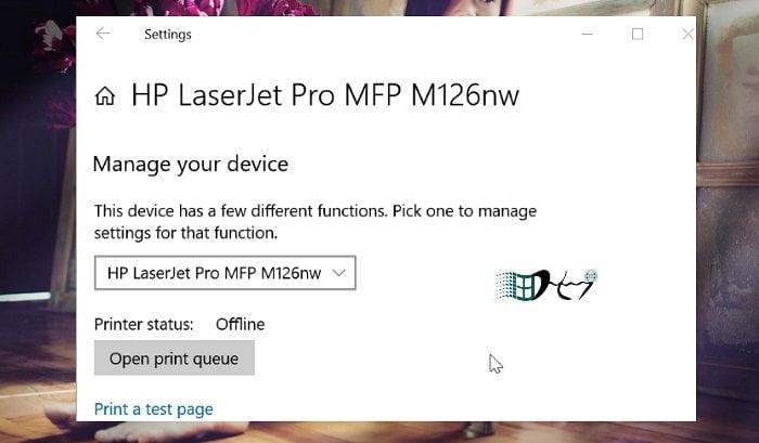 Khắc phục máy in Offline trong Windows 10 đơn giản nhất 6