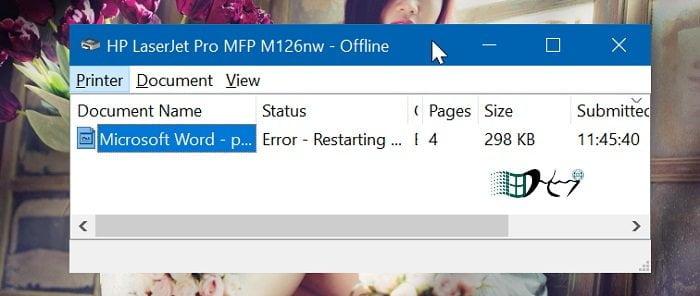 Khắc phục máy in Offline trong Windows 10 đơn giản nhất 7
