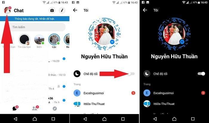 Cách sử dụng giao diện tối ứng dụng Messenger Facebook 3