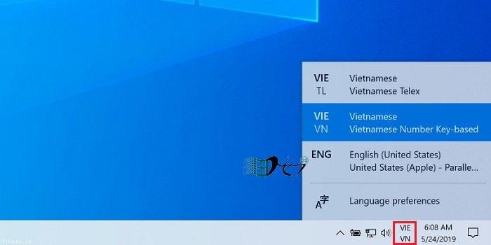 Sử dụng tiếng việt trên Windows 10 không cần cài đặt bộ gõ 10