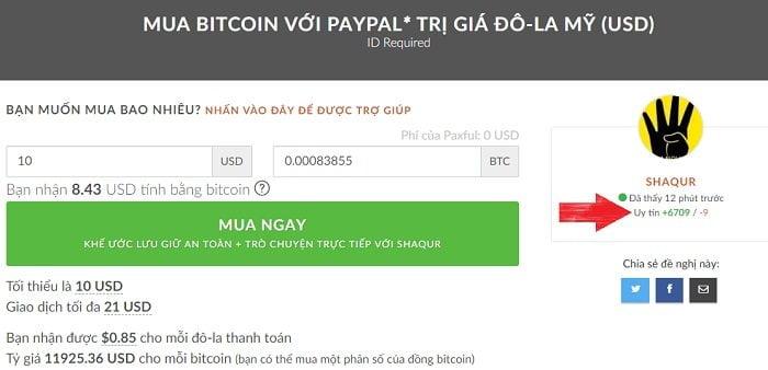 Cách mua bitcoin bằng Paypal nhanh chóng, đơn giản 9