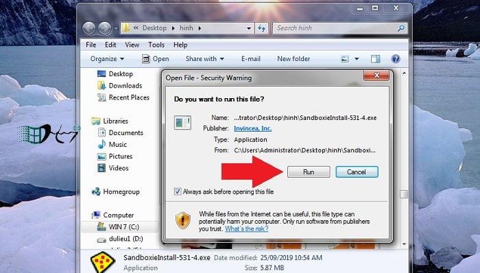 Chạy các chương trình không đáng tin trong Windows an toàn 3