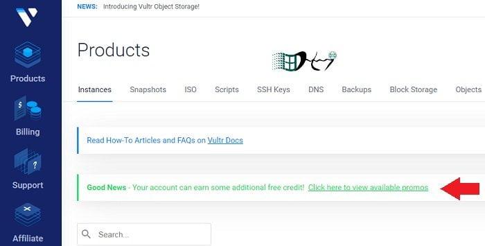 Đăng ký VPS Vultr nhận ngay 103$ FREE Credit đơn giản 6