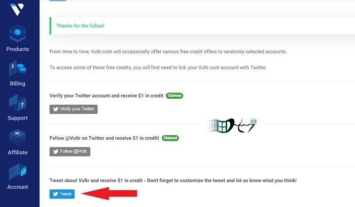 Đăng ký VPS Vultr nhận ngay 103$ FREE Credit đơn giản 11