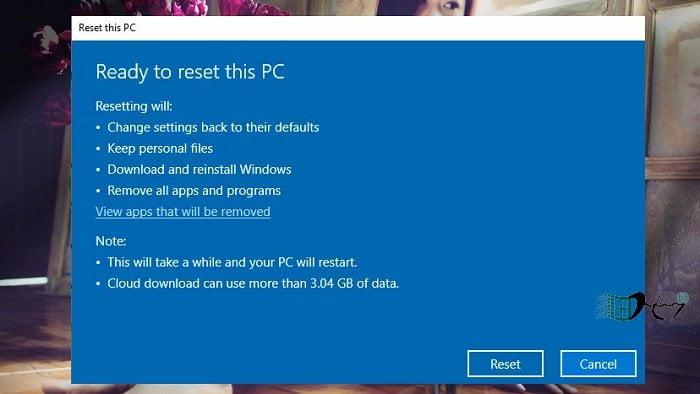 Khôi phục Windows 10 từ đám mây khi bị lỗi nhanh nhất 4