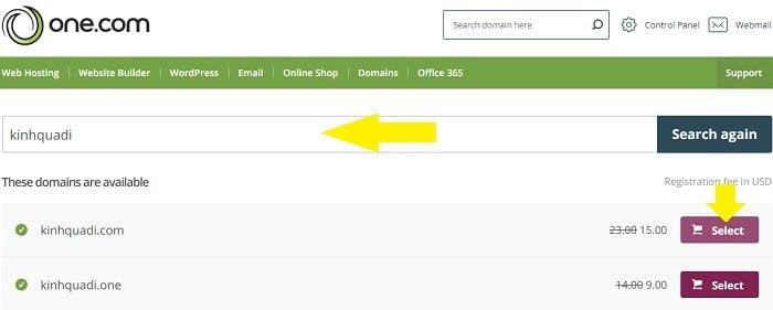 Coupon One.com hosting giá rẻ cấu hình cực cao, giá tốt 3