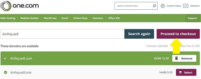 Coupon One.com hosting giá rẻ cấu hình cực cao, giá tốt 4