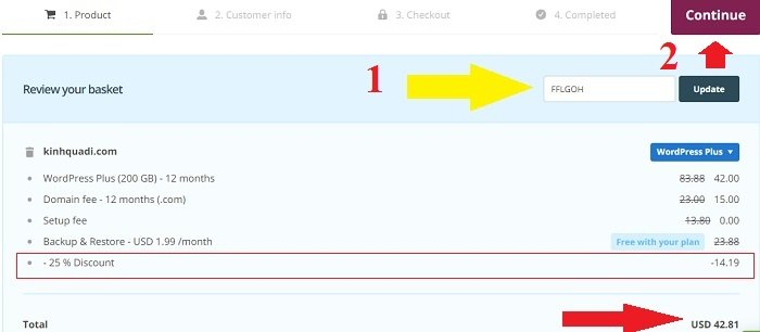 Coupon One.com hosting giá rẻ cấu hình cực cao, giá tốt 5