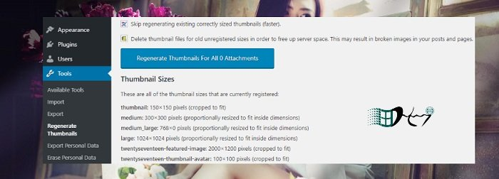 Thay đổi ảnh thumbnails khi đổi theme WordPress