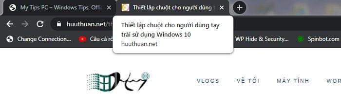 Vô hiệu tính năng hiển thị nội dung tab trên Google Chrome 2