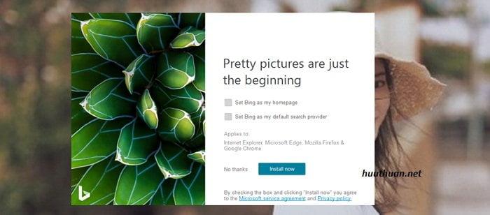 Bing Wallpaper kho ảnh nền bá đạo cho Windows 10 2