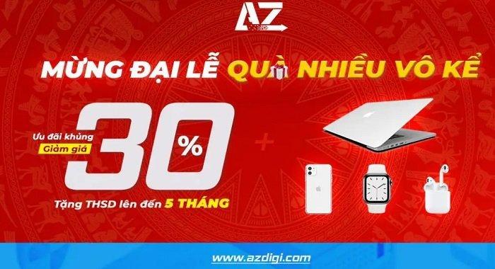 Mừng đại lễ Azdigi đang khuyến mãi lớn lên đến 30% 9