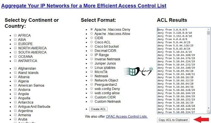 Chặn truy cập từ các quốc gia bằng cách sử dụng .htaccess 2