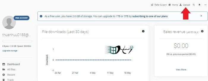 Upload File kiếm tiền uy tín đơn giản và hiệu quả 8