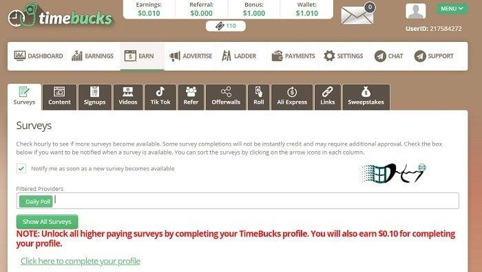 Cách kiếm tiền Online miễn phí với TimeBucks 4