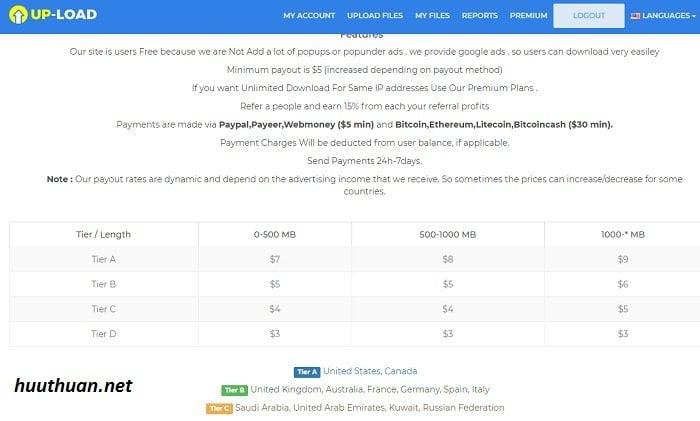 Top 5 trang Web giúp bạn kiếm tiền bằng cách UploadFile