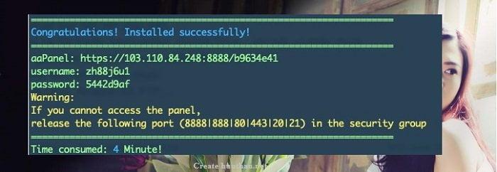 Làm thế nào để cài đặt aaPanel trên VPS 4