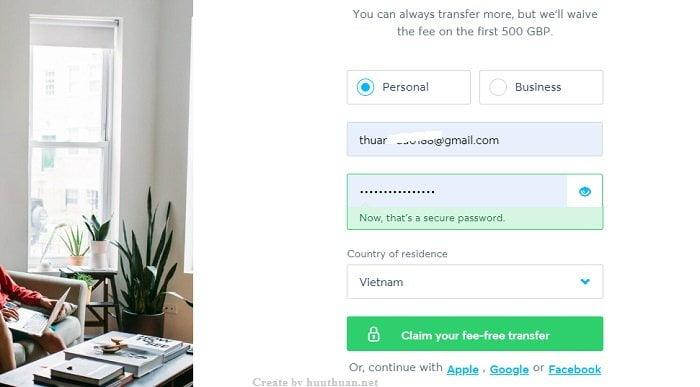 Chuyển tiền về Việt Nam với transferwise