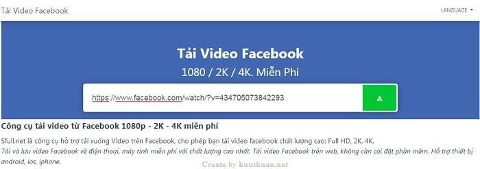 Cách tải video Facebook chất lượng cao đơn giản nhất 1
