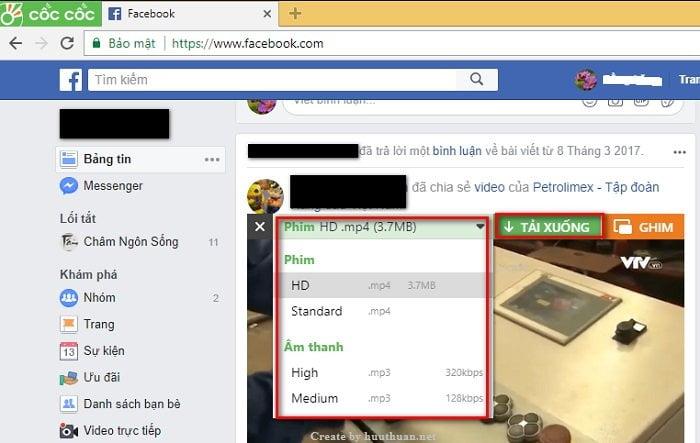 Cách tải video Facebook chất lượng cao đơn giản nhất 3