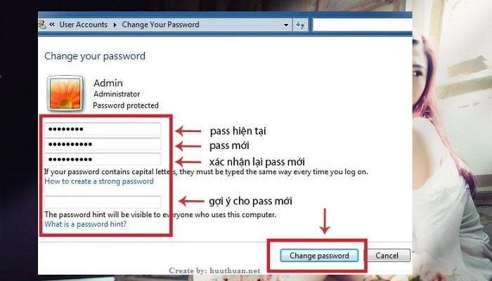 Cách đặt mật khẩu trên windows 7 đơn giản nhất 4