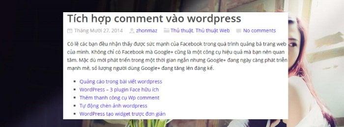 Chèn bài viết liên quan vào giữa WordPress