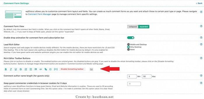 Cách tùy biến Form bình luận Wordpress với wpDiscuz 2