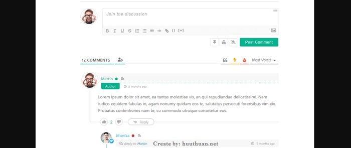 Cách tùy biến Form bình luận Wordpress với wpDiscuz 5