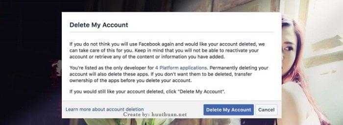 Cách xóa tài khoản Facebook không cần chờ đợi nhanh nhất 2