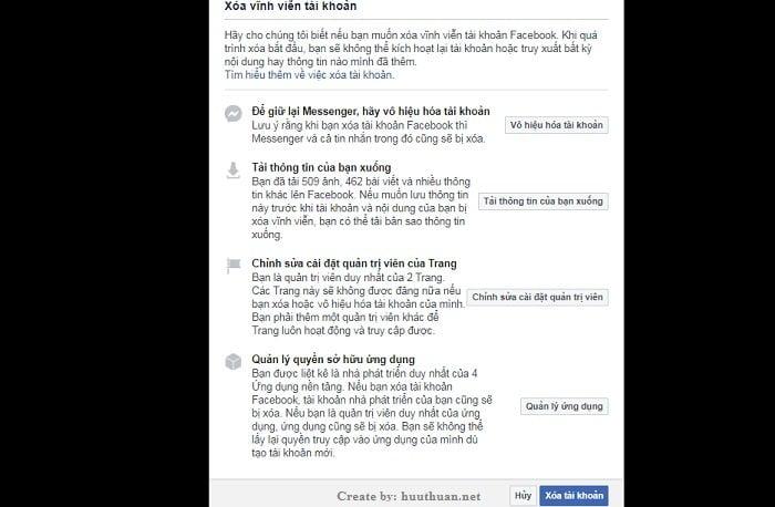Xóa tài khoản Facebook không cần chờ đợi