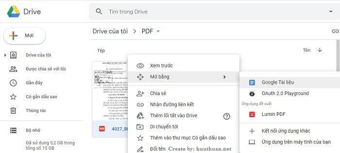 Chuyển File hình ảnh, PDF sang Word không lỗi Font bằng Google Docs 5