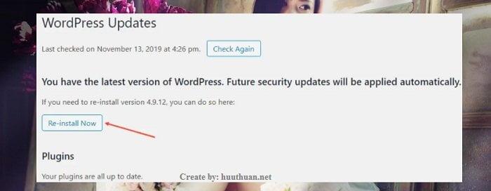 Cách hạ cấp phiên bản Wordpress an toàn nhất 4
