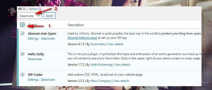 Hạ cấp phiên bản WordPress