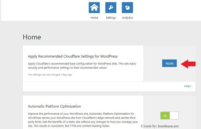 Tăng tốc wordpress bằng Automatic Platform Optimization của CloudFlare 4
