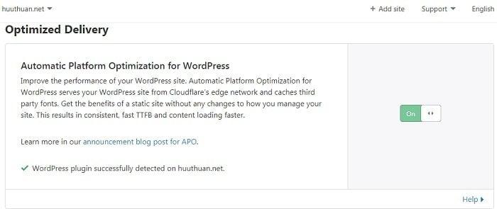 Tăng tốc wordpress bằng Automatic Platform Optimization của CloudFlare 6