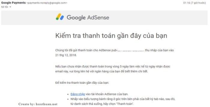 Cách nhận tiền Adsense qua chuyển khoản ngân hàng tại Việt Nam? 4
