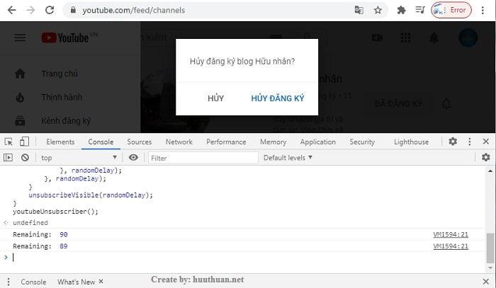 Mẹo hủy đăng ký kênh Youtube hàng loạt cực nhanh 4