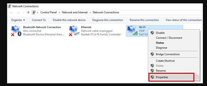 Mẹo sửa lỗi mạng wifi bị lỗi chấm than màu vàng 2