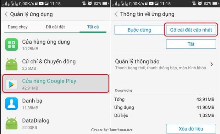 Mẹo sửa lỗi cửa hàng CH Play không mở, tải ứng dụng 6